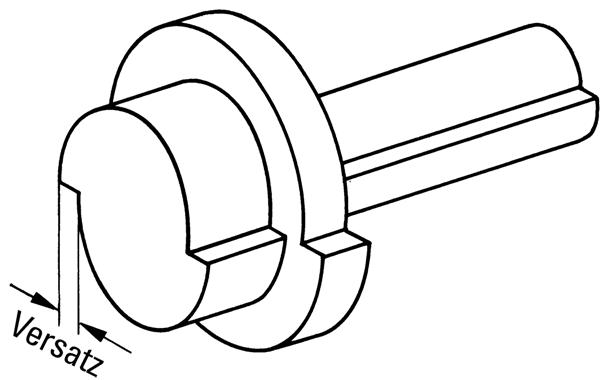 Bild 1: Versetztes Gussstück (schematisch)