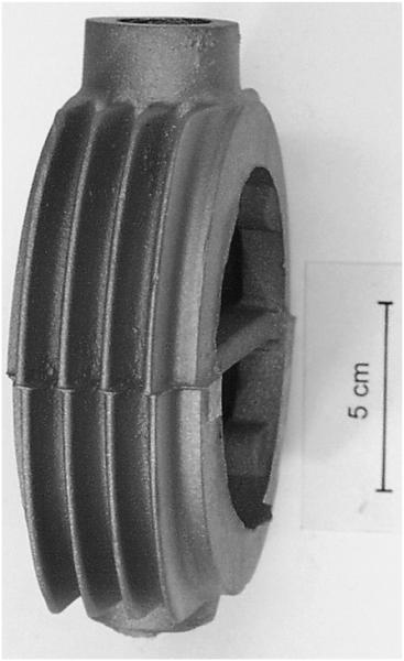 Bild 2: Versetztes Gussstück aus einer AlSi-Legierung (Sandguss)