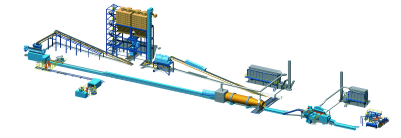 Fig. 9: Complete DISAMATIC molding plant, including automatic molding machine, sand storage bin, core inserter, pattern plate changer, cooling drum and peripheral systems, photo source: DISA Industries A/S, Herlev, Denmark