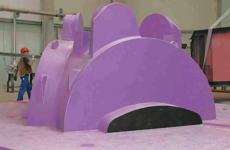 Bild 2: Modell für eine GJS-Rotornabe für ein 5 MW-Windkraftwerk, Foto: Dr.-Ing. Werner Melle Modellbau GmbH