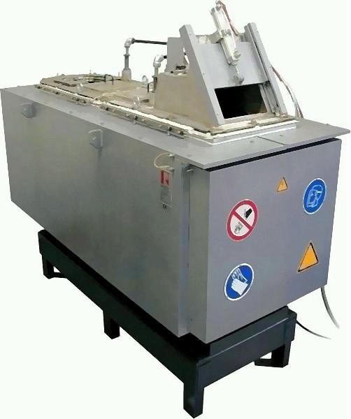 Bild 5: Zweikammer-Tiegelofen mit einer Schmelzleistung von 250 kg/h, Type MMOSL250 der Fa. Ing. Rauch Fertigungstechnik GmbH