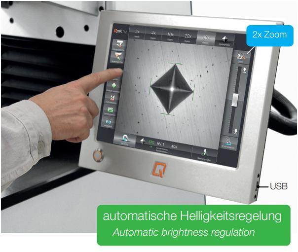 Bild 3: Vollautomatische Bildauswertung mittels Ringlicht im Hell- oder Dunkelfeld Verfahren (Qness GmbH, Golling, Österreich)