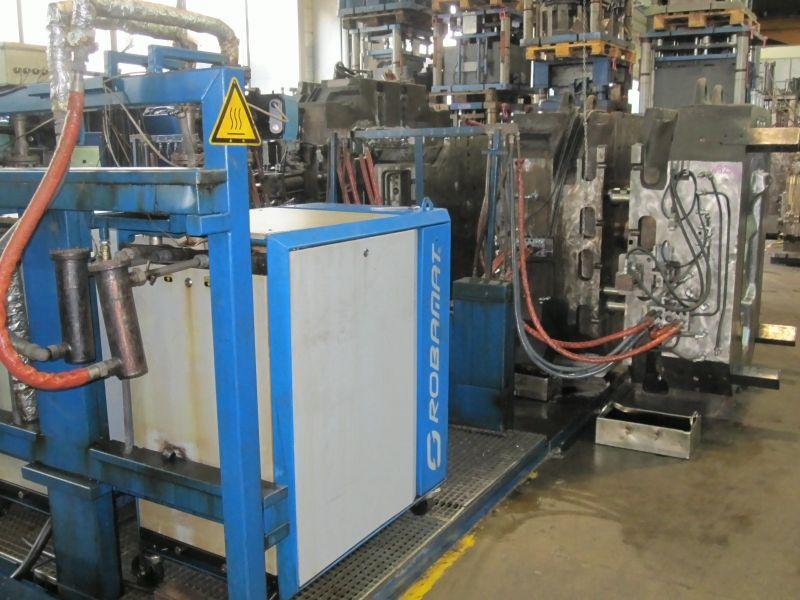 Bild 2: Formenvorwärmung in der Werkzeuginstandhaltung vor dem Rüstvorgang, Quelle: Robamat Automatisierungstechnik GmbH