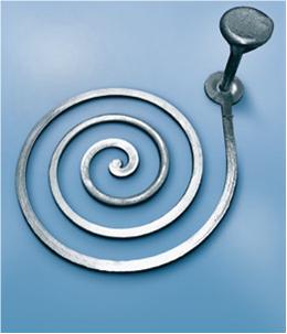 Bild 1: Abgegossene Gießspirale mit maximaler Auslauflänge