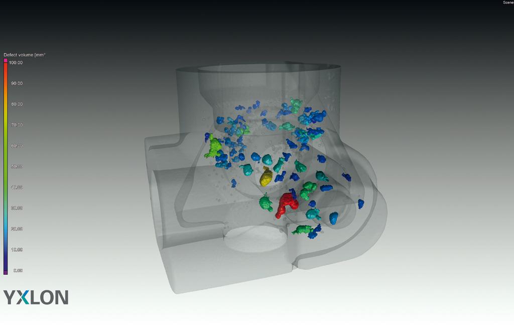 Bild 1: Porositätsanalyse von Gussteilen mit YXLON CT (YXLON International GmbH)