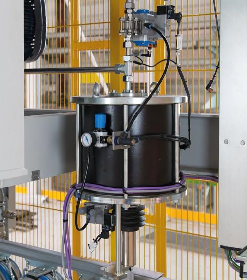 Bild 1: Bindemittel Balgdosiergerät BDG (KLEIN Anlagenbau AG)