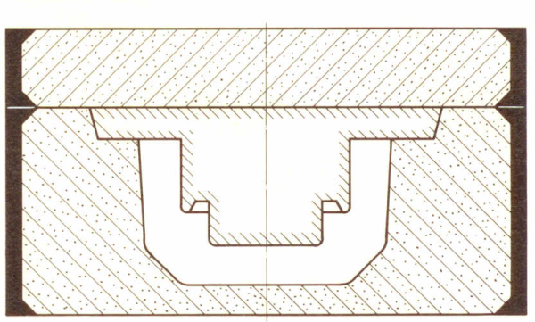 Bild 1: Hängekern als Abdeckkern ausgeführt (nach R. Rolle)