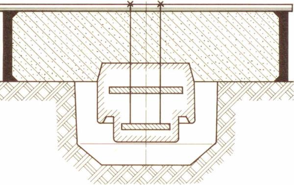 Bild 2: Hängekern im Oberteil festgebunden (nach R. Rolle)