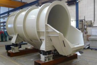 Fig. 1: Vibration shake out drum Type DMF (Jöst GmbH & Co. KG)