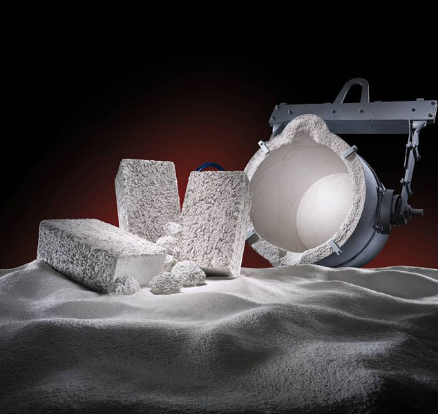 Fig. 1: Refractory materials, (Foseco Foundry Division Vesuvius GmbH)