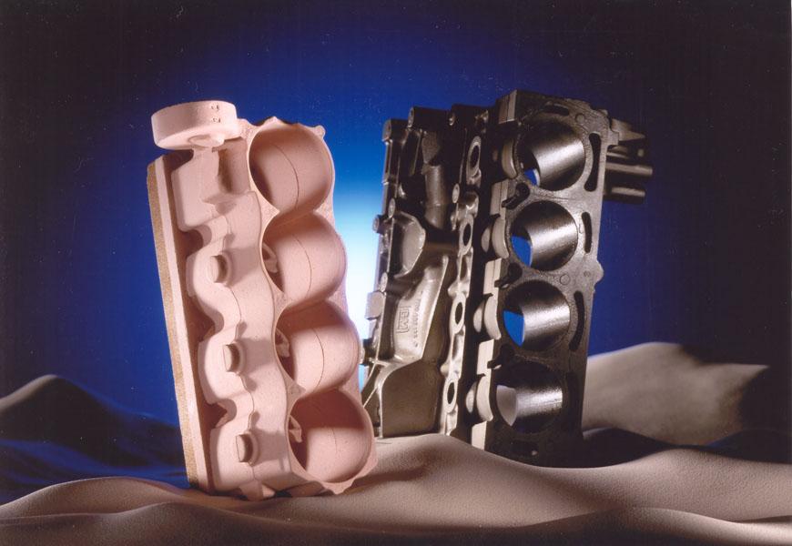 Bild 1: Formstoffüberzug Schlichte, (Foseco Foundry Division Vesuvius GmbH)