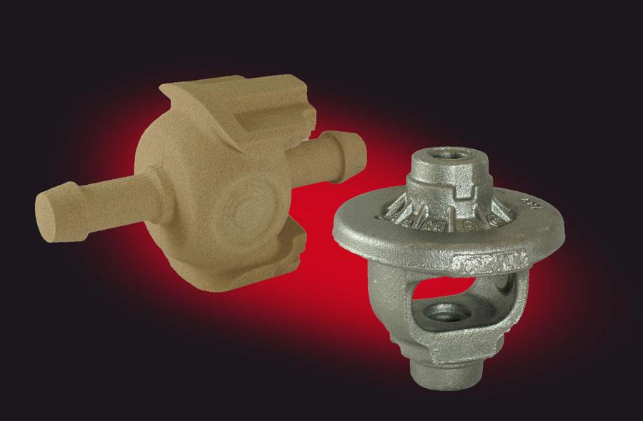 Fig. 1, Sand core, (Foseco Foundry Division Vesuvius GmbH)