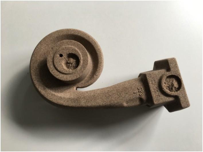 Bild 3: Sandkern für ein Turbinengehäuse, Quelle: Harz Guss Zorge GmbH