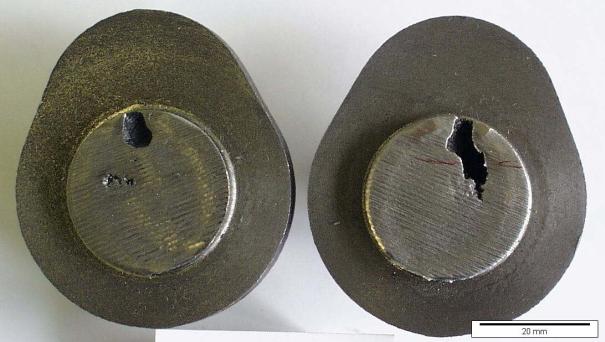 Bild 4: Klassischer Innenlunker an einer Kurbelwelle aus GJS