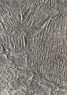 Bild 1: Typischer Orangenschaleneffekt bei einem Gussteil aus GJS, Wanddicke 75 mm, hergestellt im Kaltharzverfahren, 5:1 (Quelle: FT&E)