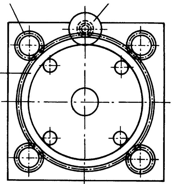 Fig. 1: Mold height adjustment including sprocket drive