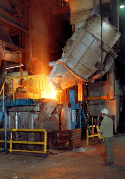 Fig. 2:  Crane converter during furnace emptying