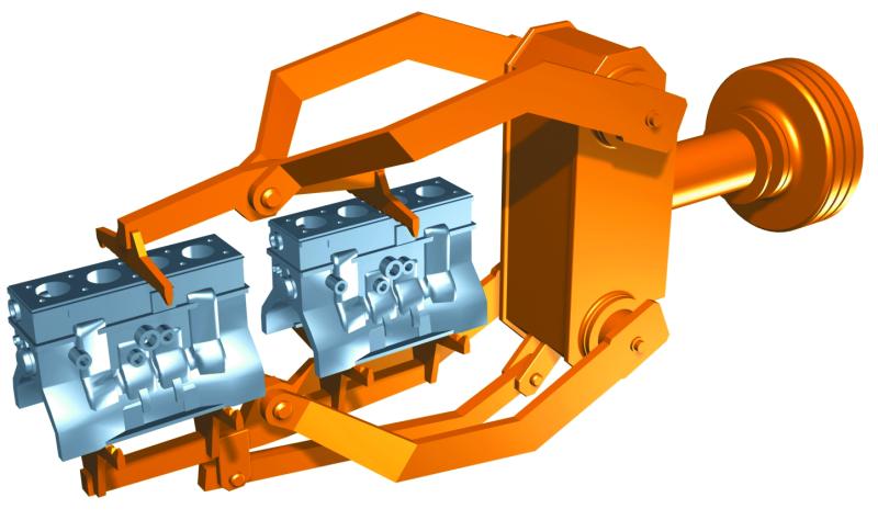 Fig. 2:  Manipulator blasting machine grippers, (Wheelabrator)