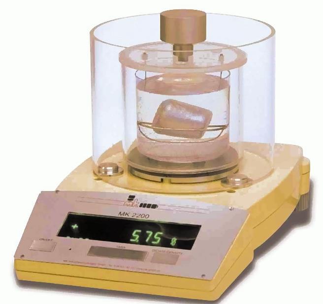 Fig. 1: Type MK 2200 density scales by mk Industrievertretungen GmbH