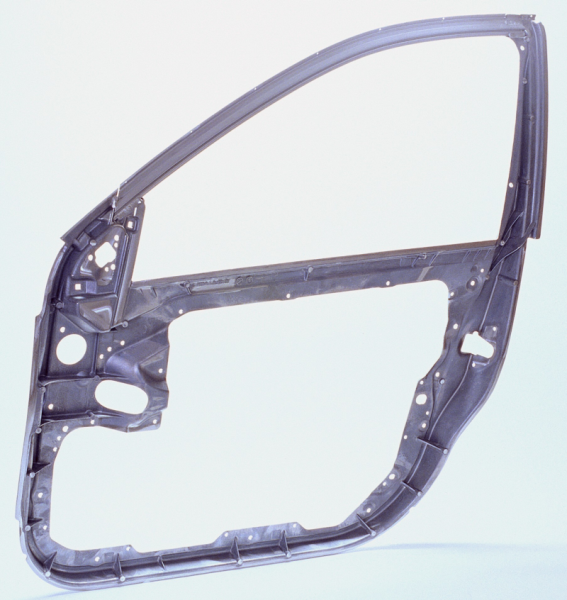 Figure 1: Aluminum die cast part, ASSY frame for S-Class W221 door, weight: 3.60 kg, alloy: Al Mg5Si2Mn, manufacturer: Georg Fischer Druckguss GmbH, Munich