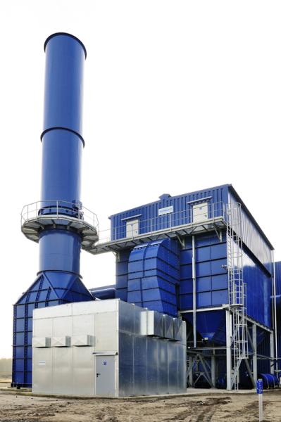 Fig. 2:  Serial filter in the foundry industry, (Scheuch GmbH, Aurolzmünster, Austria)