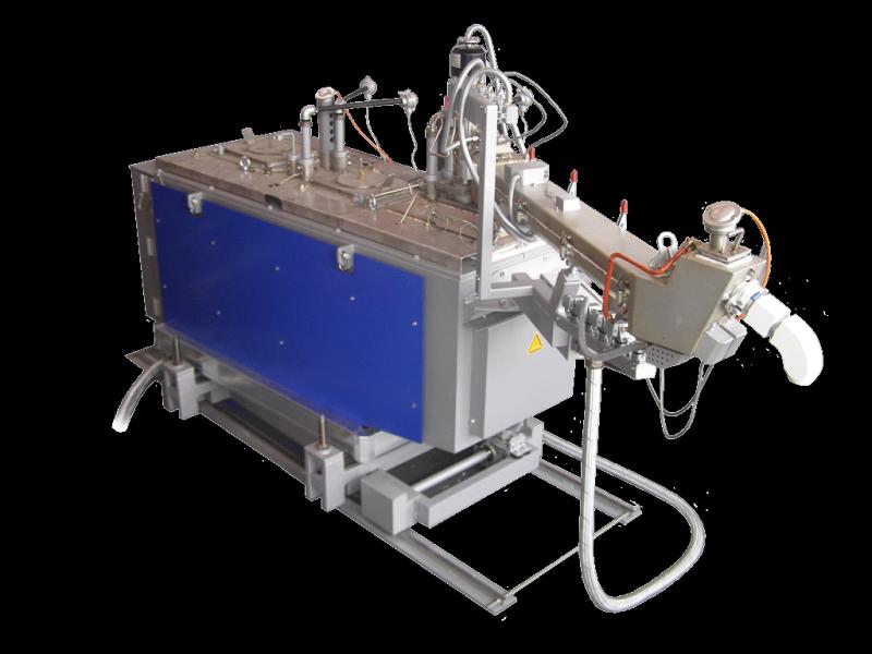 Figure 3:Two-chamber melting and dosing furnace, type Rauch MDO 250, with upwards dosing, photo: Ing. Rauch Fertigungstechnik GmbH