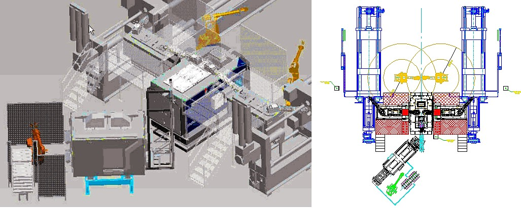 Figure 4: Combined system technology: Magnesium melting and dosing furnace and pig heat-up device for in-cell recycling, photo: Ing. Rauch Fertigungstechnik GmbH