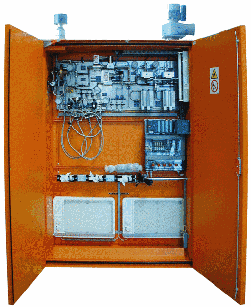 Fig. 1: Shielding gas mixing machine, type GMA from Ing. Rauch Fertigungstechnik GmbH