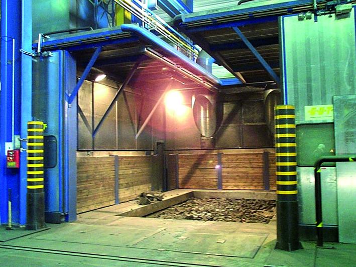 Fig. 2:  Example shake-out station system, (GUT Giesserei Umwelt Technik GmbH, Freudenberg)