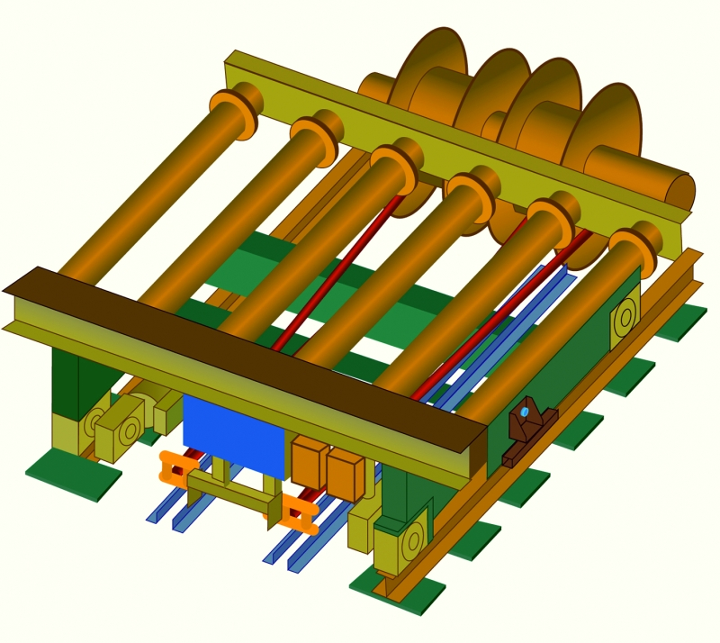 Fig. 1: Transfer car CAD model,(GUT Giesserei Umwelt Technik GmbH, Freudenberg)
