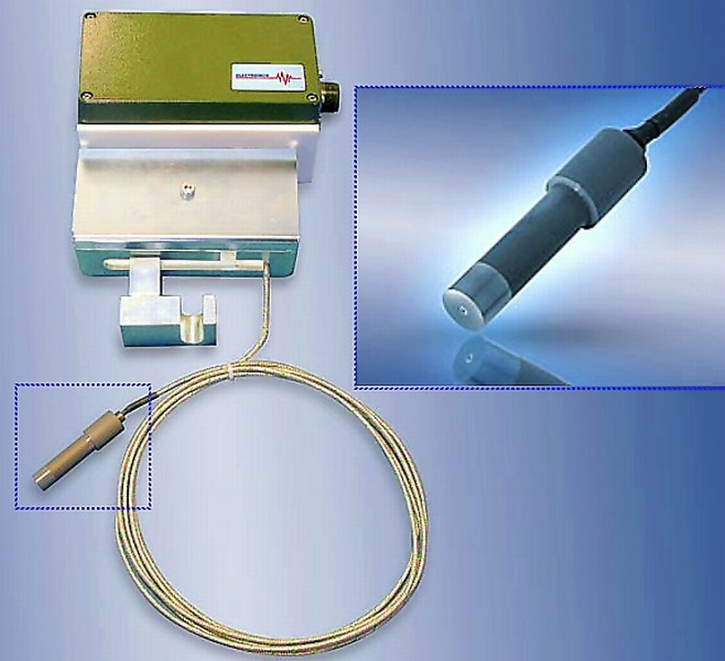 Fig. 1: MFCS metal front contact sensor and measuring system by Electronics GmbH