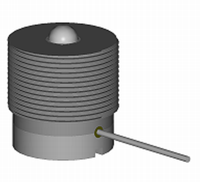 Fig. 1: SP-P sensor to measure the compaction processes Squeezing and Shot squeezing (according to J. Bast and A. Malaschkin)