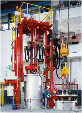 Fig. 1: Vacuum arc remelting furnace VAR (ALD Vacuum Technologies GmbH, Hanau)
