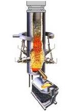 Fig. 4: Cokeless cupola furnace (Düker GmbH & Co. KGaA, Karlstadt / Main)