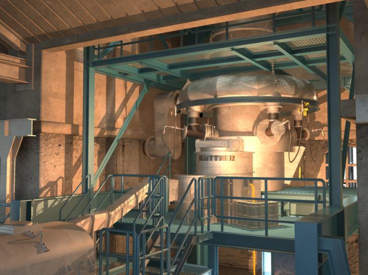 Fig 5: hot Wind-cupola, Küttner GmbH & Co. KG