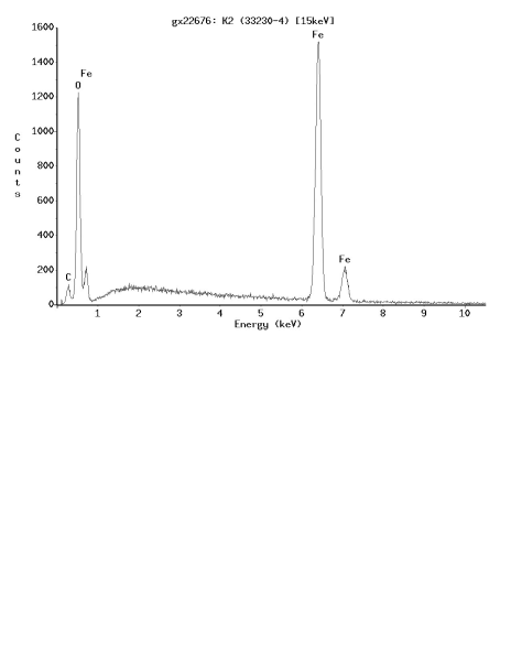 Fig. 4: EDX analysis of the oxide film shown in Fig. 3