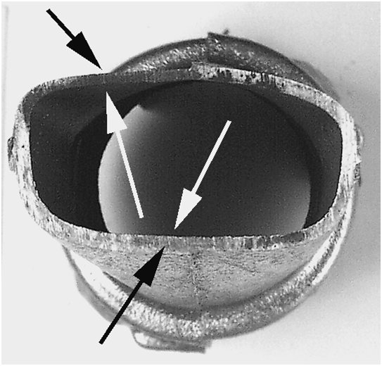 Fig. 4: Offset between casting contour and core contour