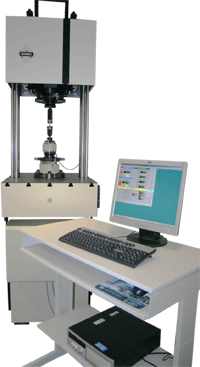 Fig. 1: High-frequency resonance pulse equipment for axial fatigue tests (source: Böllhoff GmbH, Traun, Austria)