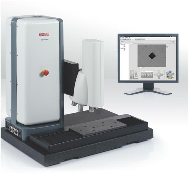 Fig. 2:  DuraScan micro hardness testing machine (EMCO-TEST Prüfmaschinen GmbH, Kuchl-Salzburg, Austria)