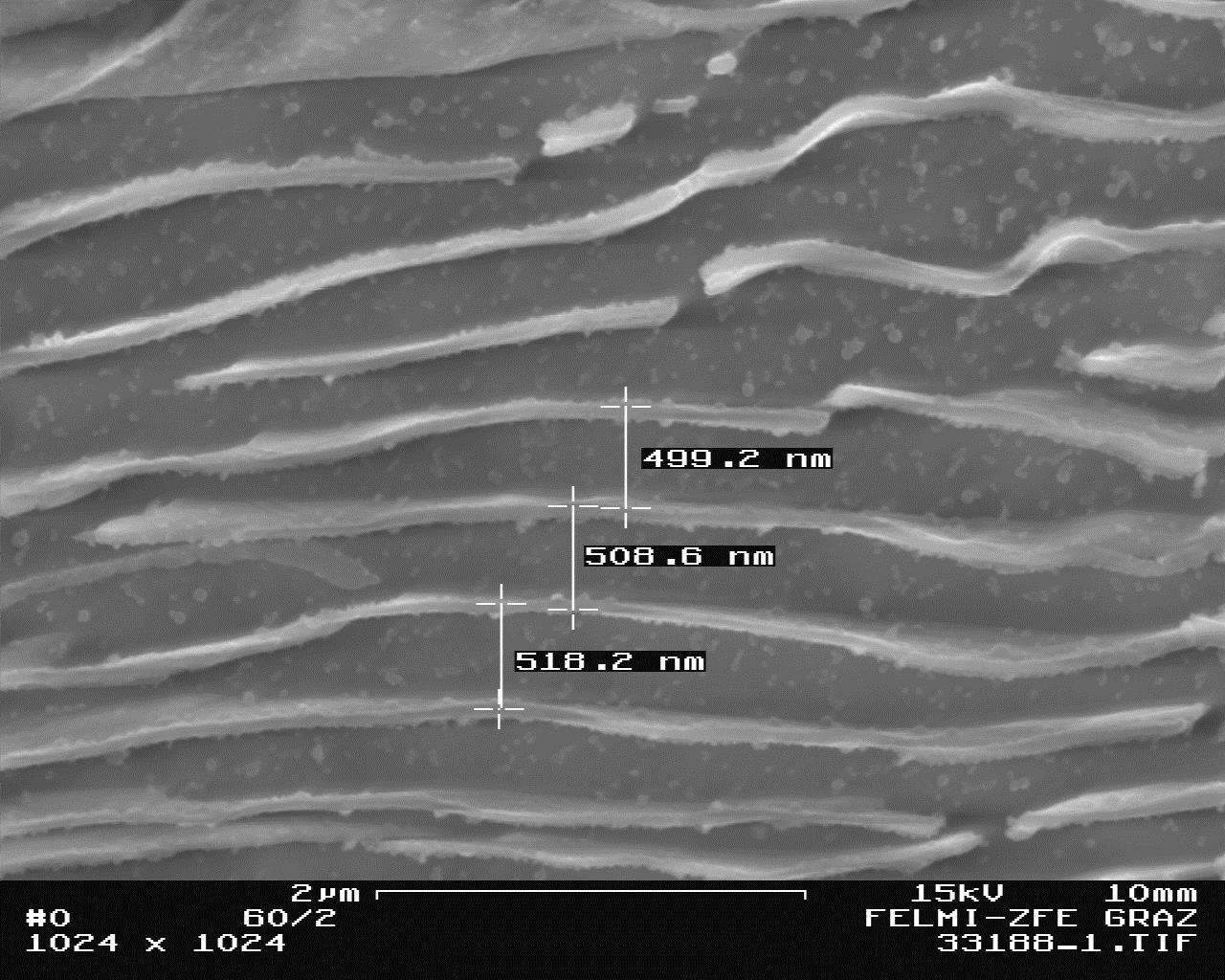 Fig. 4. Effect of the pearlite refining by 0.1% Cu-addition, wall thickness 70 mm, 20000:1, etched