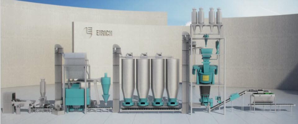 Bild 2: Formstoffaufbereitung mit Kühler (Maschinenfabrik Gustav Eirich GmbH & Co KG)