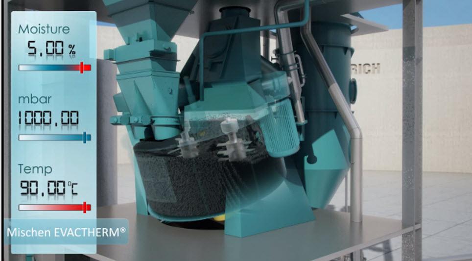 Bild 5: Überfeuchten der Charge (Maschinenfabrik Gustav Eirich GmbH & Co KG)