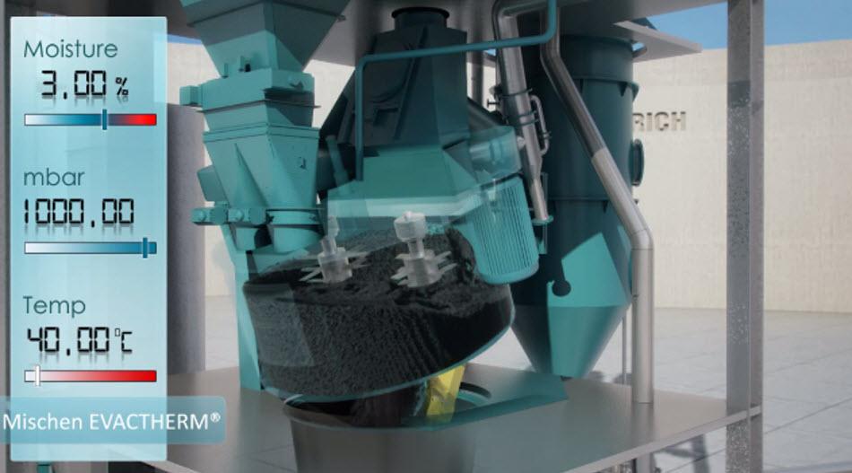 Bild 8: Entleeren der Formstoffmischung (Maschinenfabrik Gustav Eirich GmbH & Co KG)