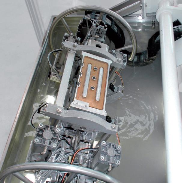 Bild 1: Wasserbadprüfung, Unterwasser-Lecktest-Zelle CASTTESTER WATER von Fa. Fill GmbH