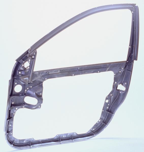 Bild 1: Aluminium-Druckgussteil, ZB-Rahmen für Tür S-Klasse W221, Gewicht: 3,60 kg, Legierung: Al Mg5Si2Mn, Hersteller: Georg Fischer Druckguss GmbH, München