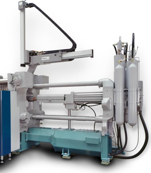 Bild 2: Druckspeicher an einer Kaltkammer-Druckgießmaschine des Herstellers Bühler AG