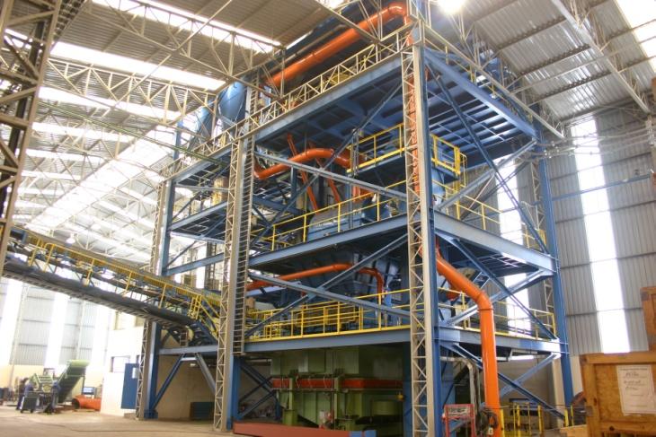 Bild 1: Altsandaufbereitung mit Fließbettkühler, Küttner GmbH & Co. KG