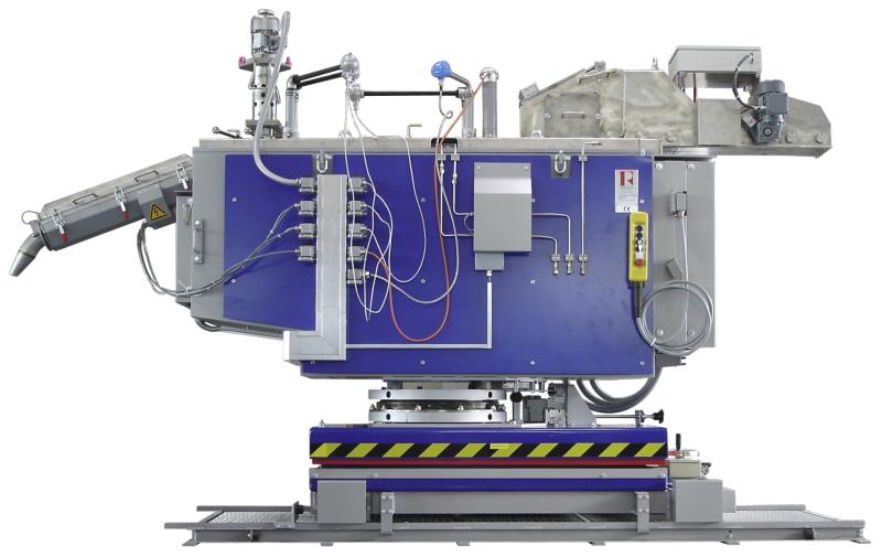 Bild 1: Magnesium-Dosierofen für den Kaltkammer-Druckguss, Type Rauch MDO 250, Ing. Rauch Fertigungstechnik GmbH