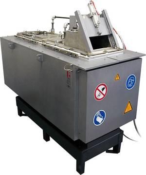 Bild 2: Magnesium-Warmkammerofen, Zweikammer-Tiegelofen (Maschinenofen), Type MMOSL250 der Ing. Rauch Fertigungstechnik GmbH
