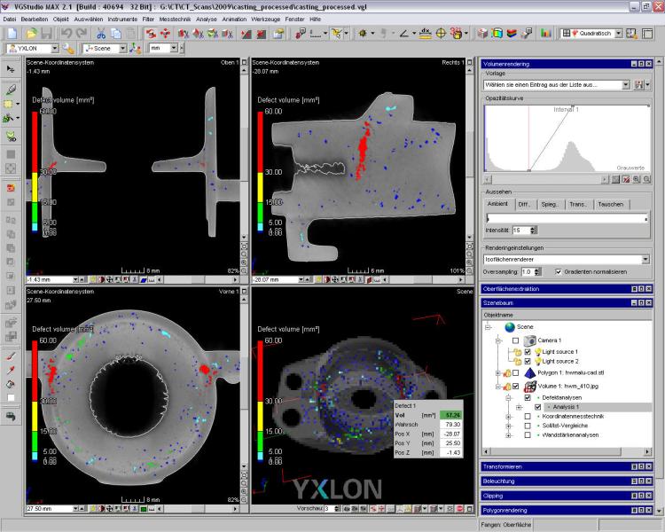 Bild 2: Visualisierung der Ergebnisse (YXLON International GmbH, Hamburg)